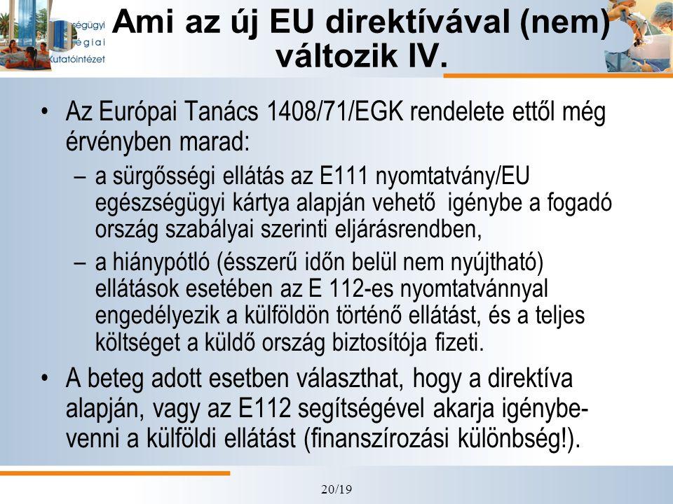 Ami az új EU direktívával (nem) változik IV.