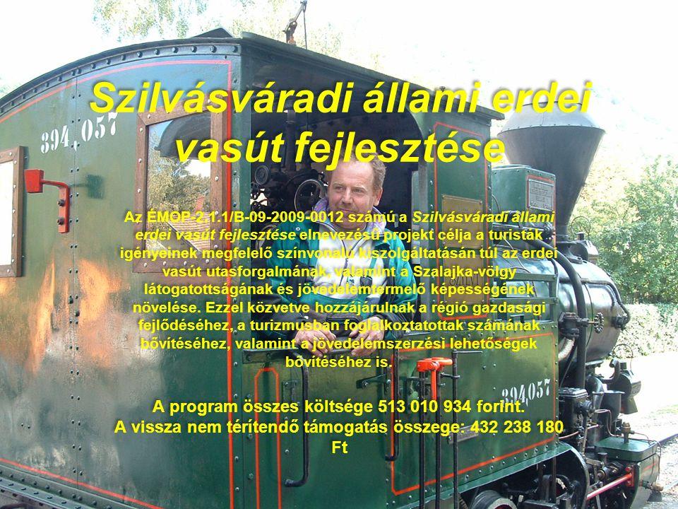 Szilvásváradi állami erdei vasút fejlesztése