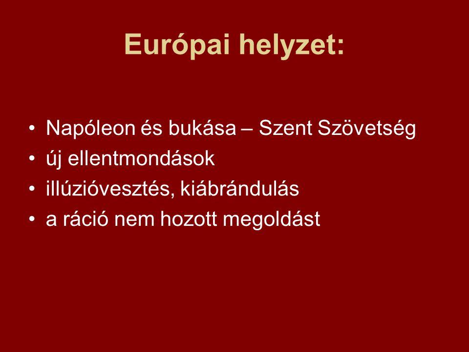 Európai helyzet: Napóleon és bukása – Szent Szövetség