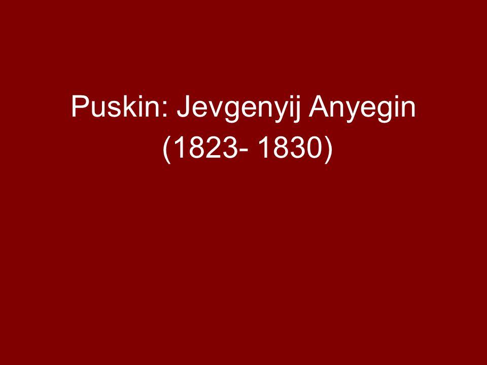 Puskin: Jevgenyij Anyegin