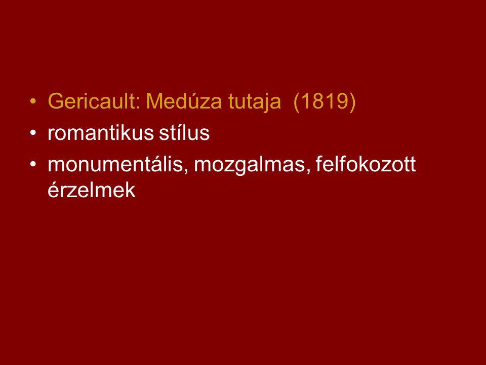 Gericault: Medúza tutaja (1819)