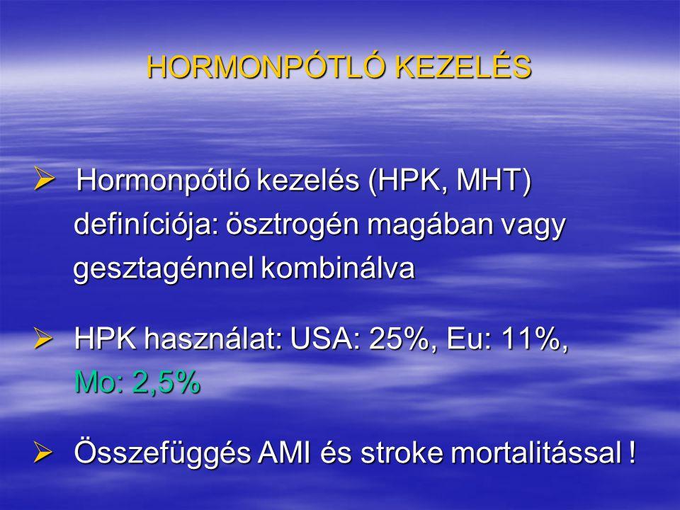 Hormonpótló kezelés (HPK, MHT)