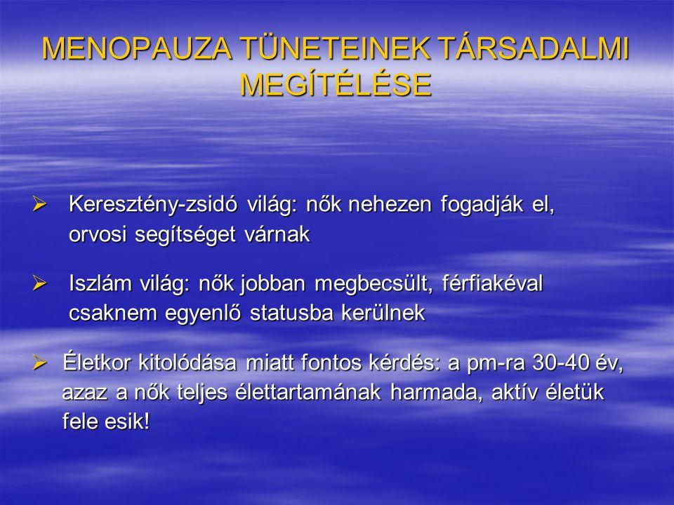 MENOPAUZA TÜNETEINEK TÁRSADALMI MEGÍTÉLÉSE