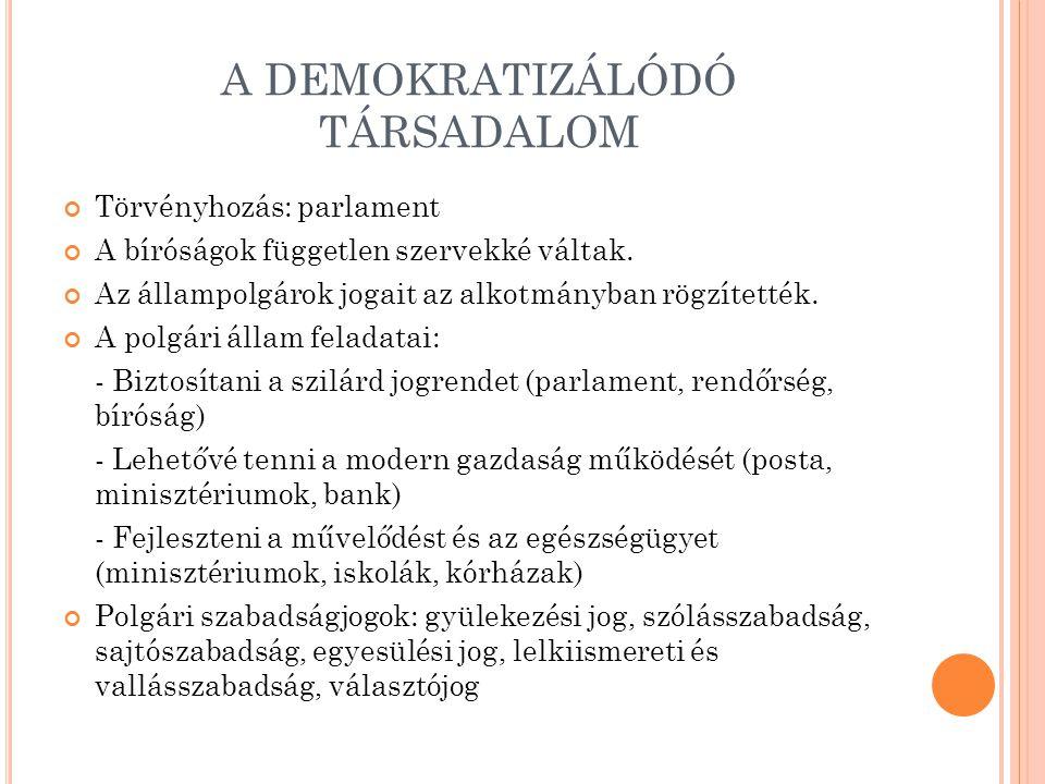 A DEMOKRATIZÁLÓDÓ TÁRSADALOM