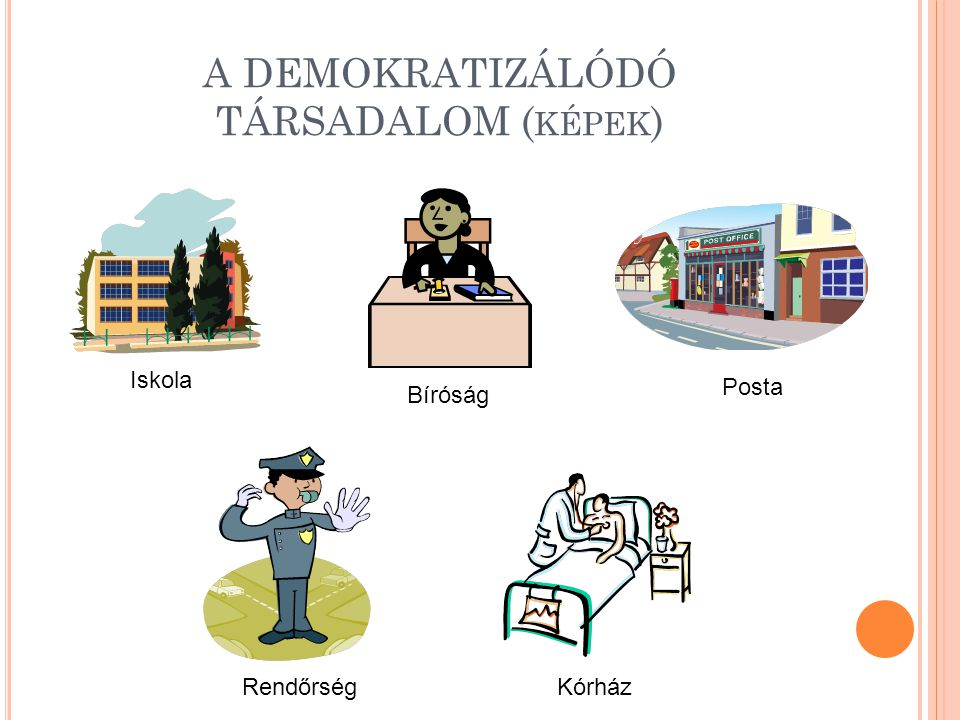 A DEMOKRATIZÁLÓDÓ TÁRSADALOM (képek)