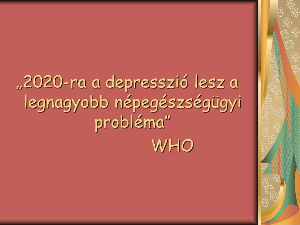 """""""2020-ra a depresszió lesz a legnagyobb népegészségügyi probléma"""