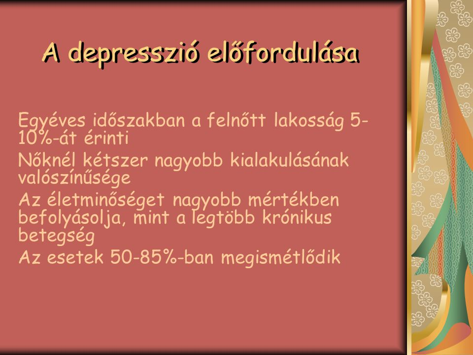 A depresszió előfordulása