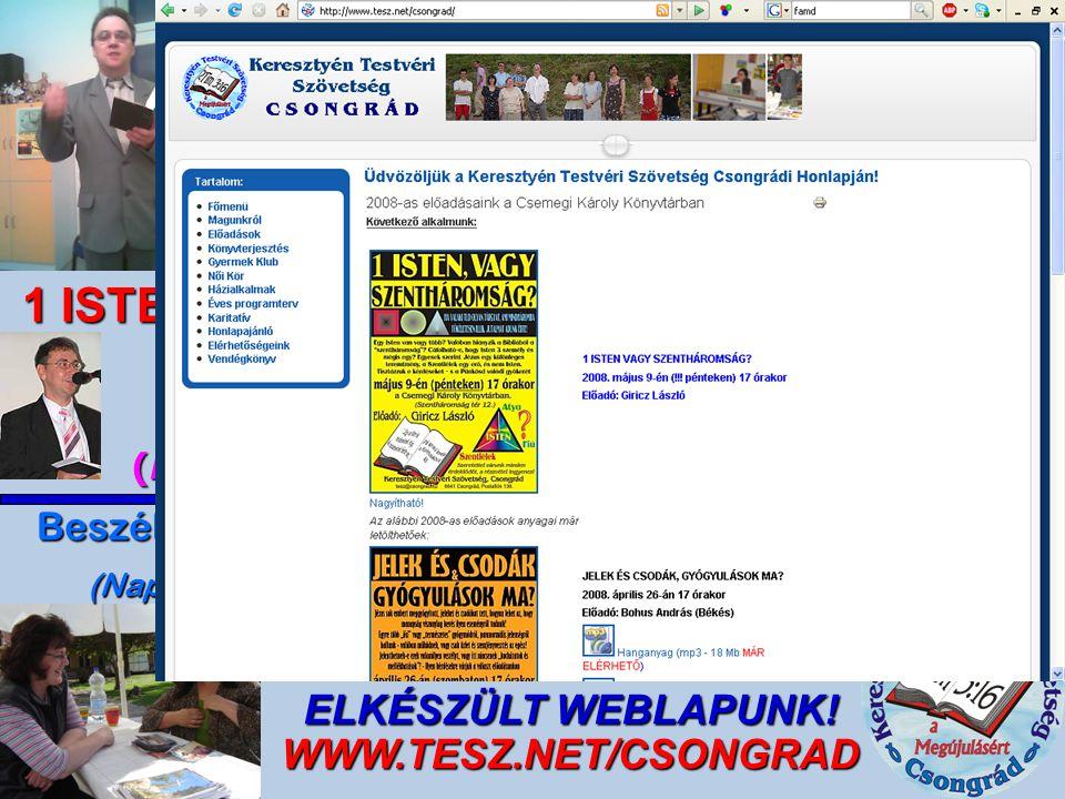 ELKÉSZÜLT WEBLAPUNK! WWW.TESZ.NET/CSONGRAD
