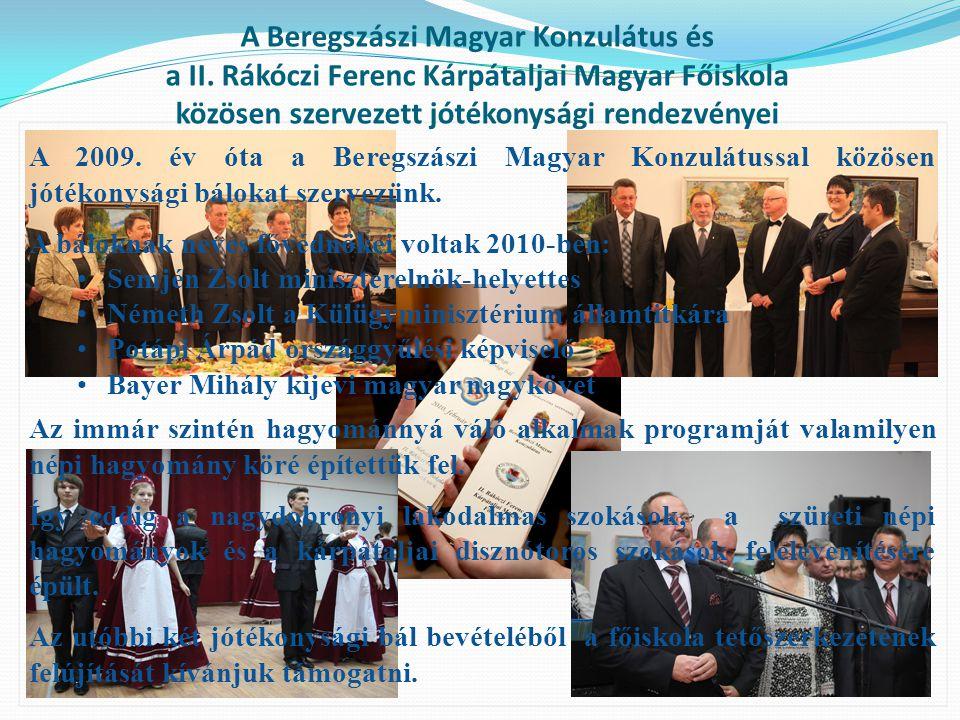 A Beregszászi Magyar Konzulátus és a II