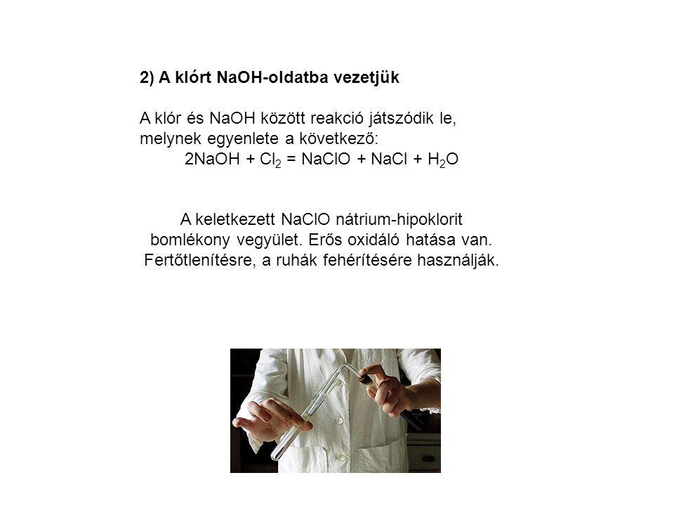 2NaOH + Cl2 = NaClO + NaCl + H2O