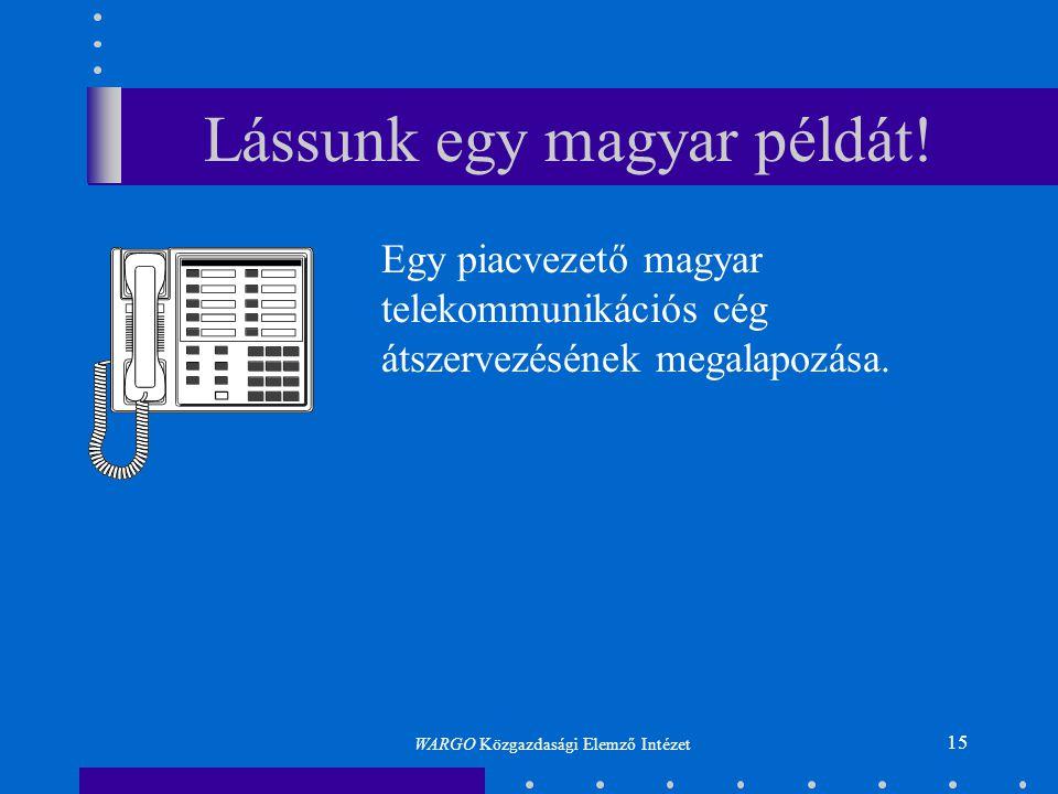 Lássunk egy magyar példát!
