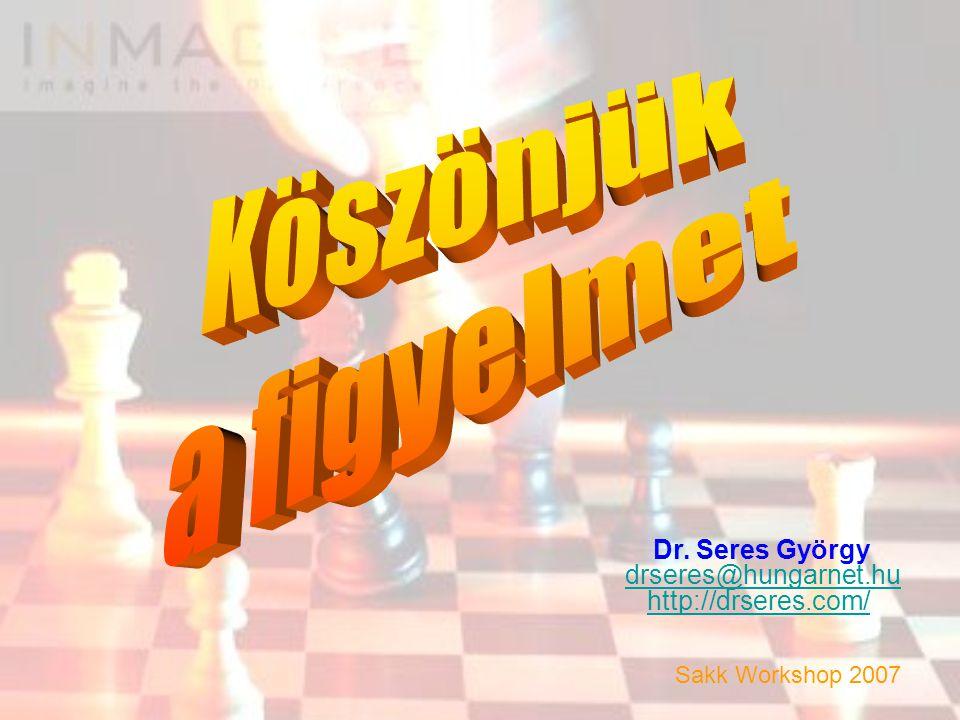 Köszönjük a figyelmet Dr. Seres György drseres@hungarnet.hu