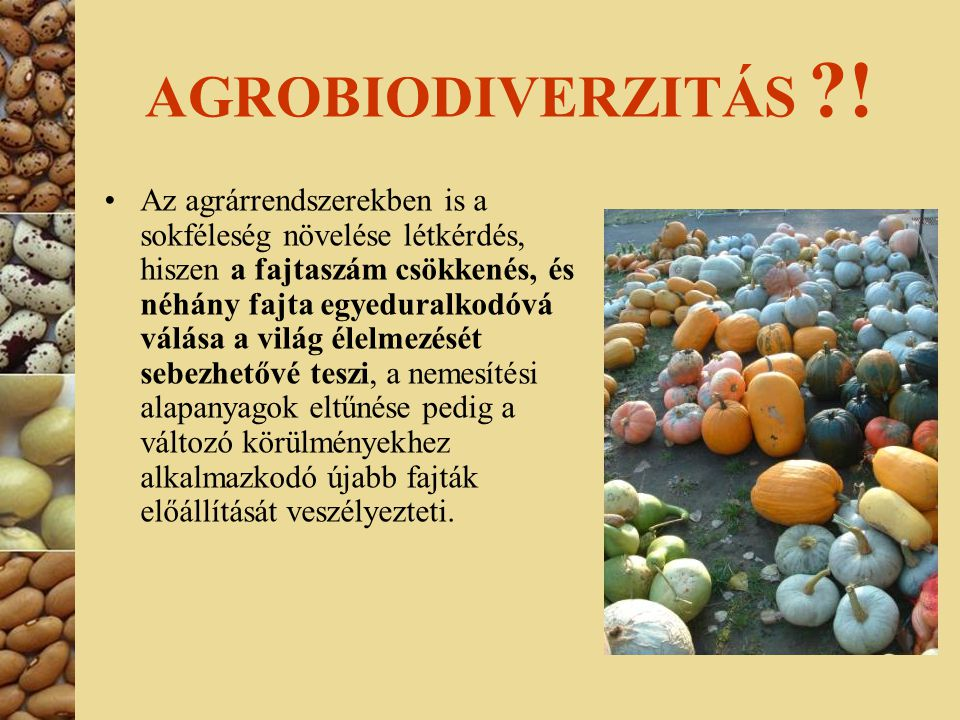 AGROBIODIVERZITÁS !
