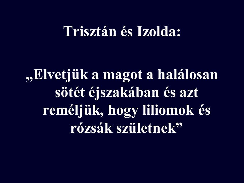 """Trisztán és Izolda: """"Elvetjük a magot a halálosan sötét éjszakában és azt reméljük, hogy liliomok és rózsák születnek"""