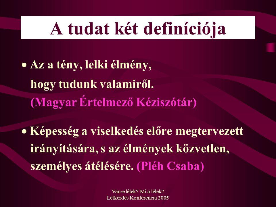 A tudat két definíciója