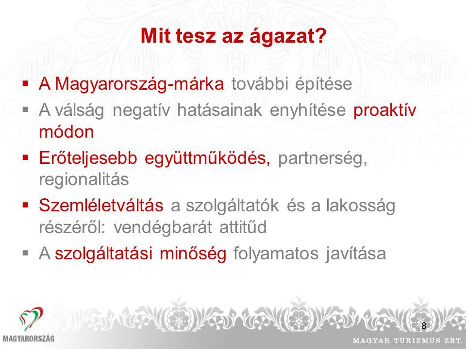 Mit tesz az ágazat A Magyarország-márka további építése