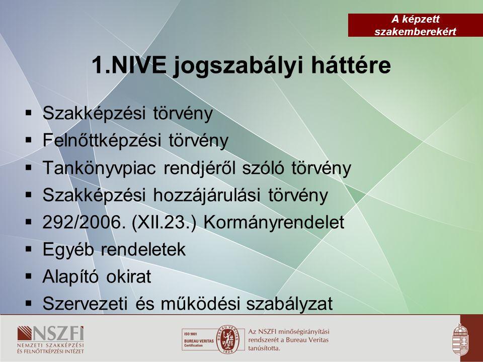 1.NIVE jogszabályi háttére