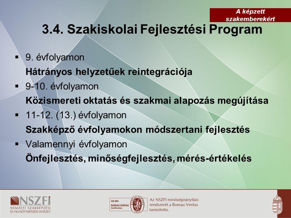 3.4. Szakiskolai Fejlesztési Program