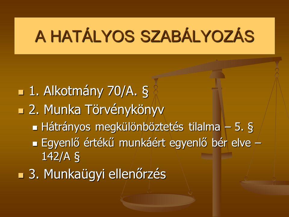 A HATÁLYOS SZABÁLYOZÁS