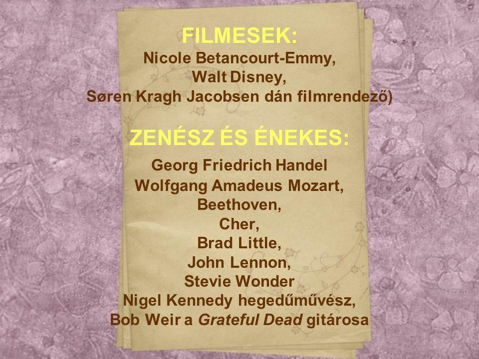 FILMESEK: ZENÉSZ ÉS ÉNEKES: Nicole Betancourt-Emmy, Walt Disney,