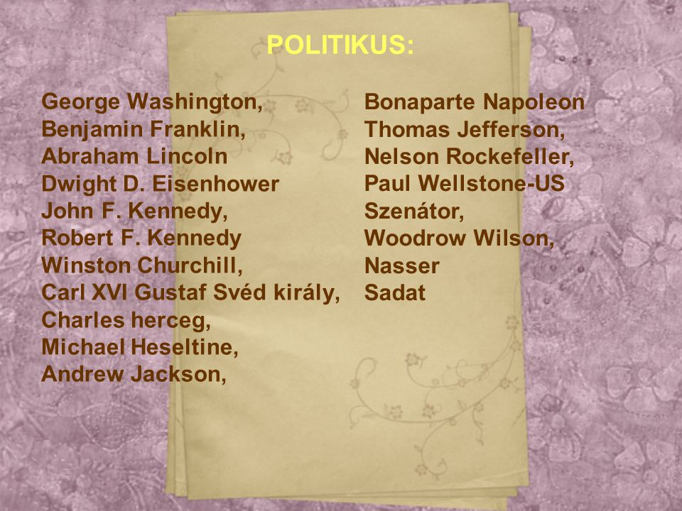 POLITIKUS: Bonaparte Napoleon George Washington, Thomas Jefferson,