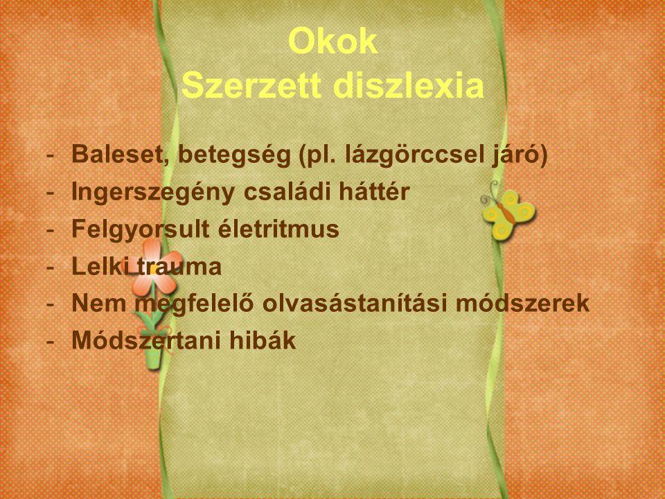 Okok Szerzett diszlexia