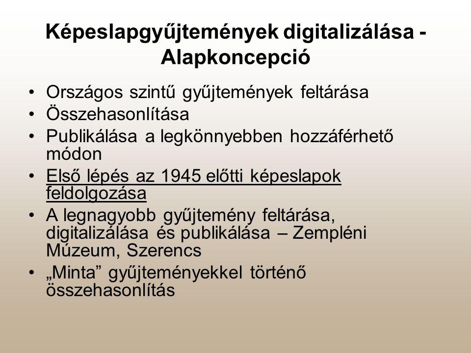 Képeslapgyűjtemények digitalizálása - Alapkoncepció