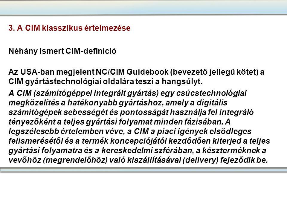 3. A CIM klasszikus értelmezése