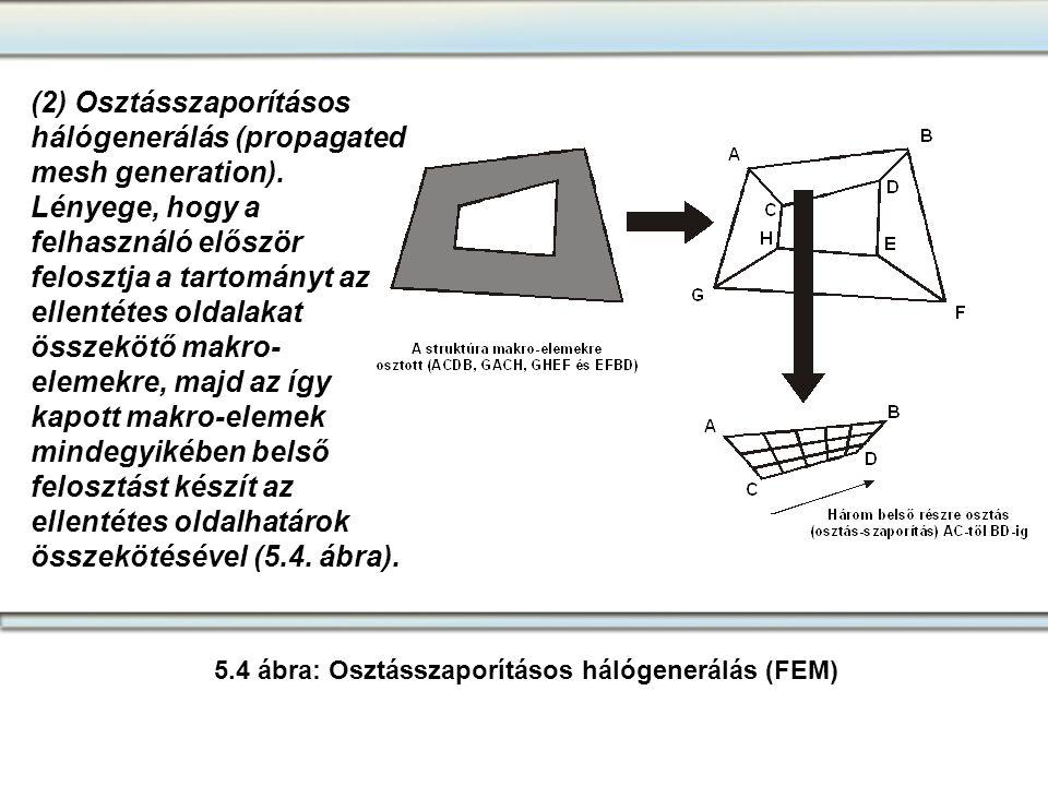 5.4 ábra: Osztásszaporításos hálógenerálás (FEM)