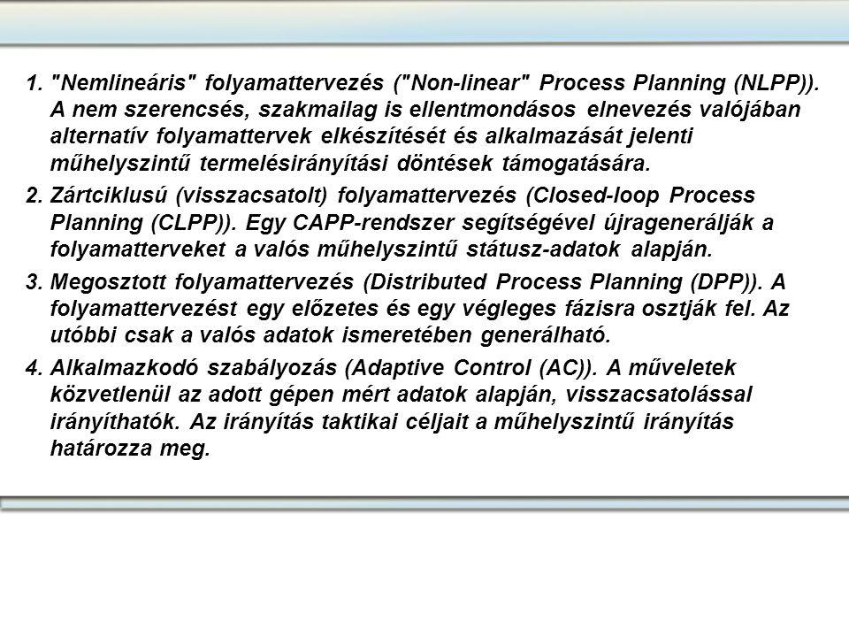 Nemlineáris folyamattervezés ( Non-linear Process Planning (NLPP))