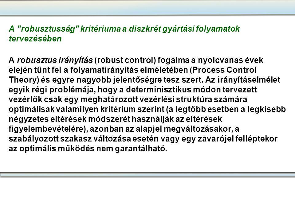 A robusztusság kritériuma a diszkrét gyártási folyamatok tervezésében