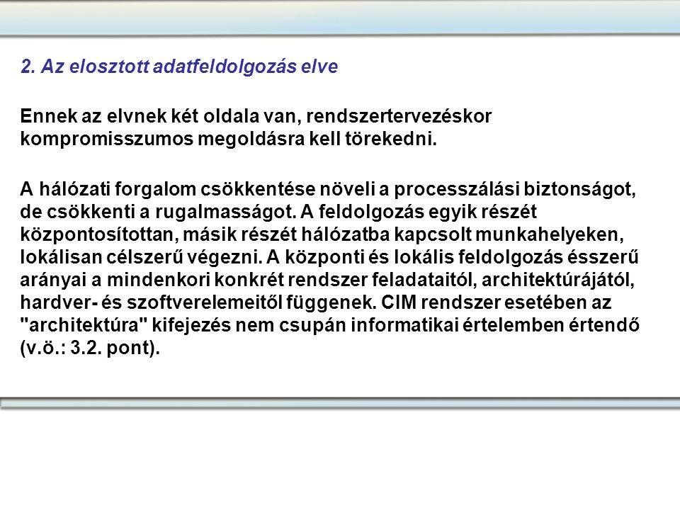 2. Az elosztott adatfeldolgozás elve