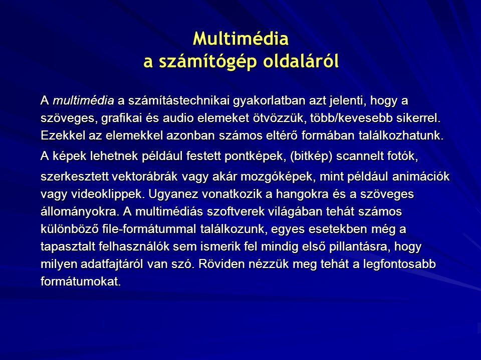 Multimédia a számítógép oldaláról