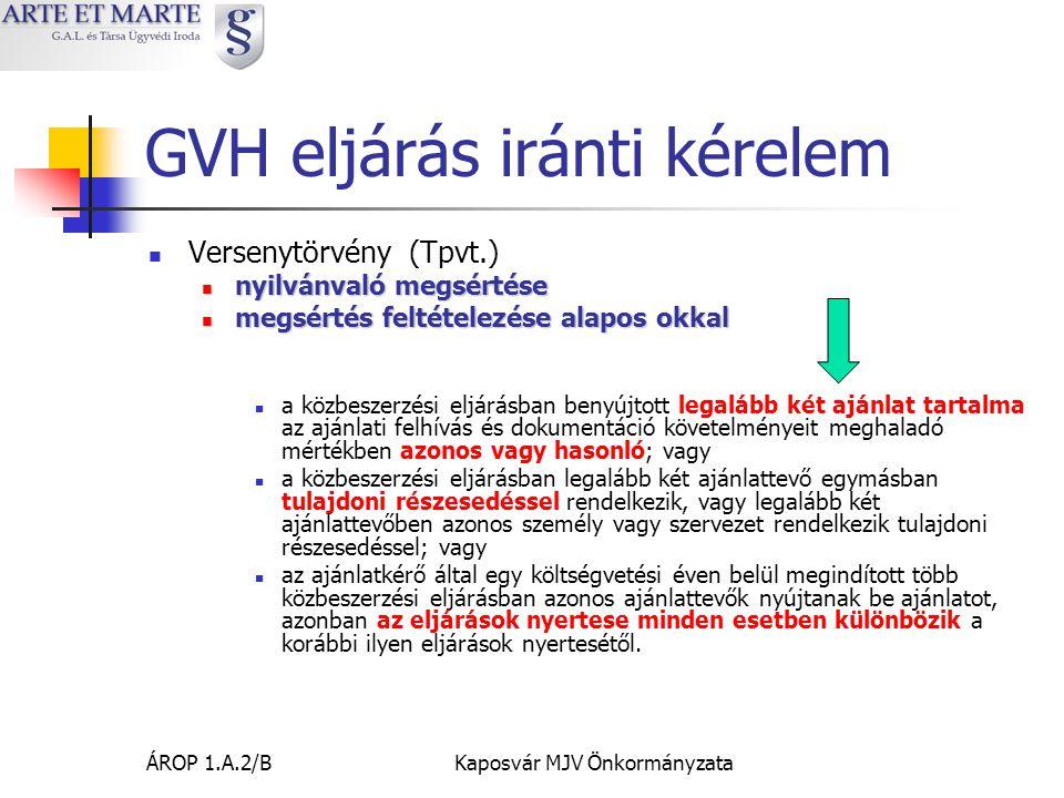 GVH eljárás iránti kérelem