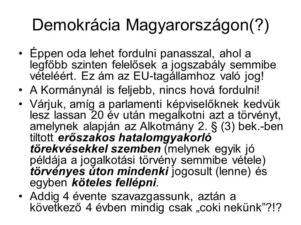 Demokrácia Magyarországon( )