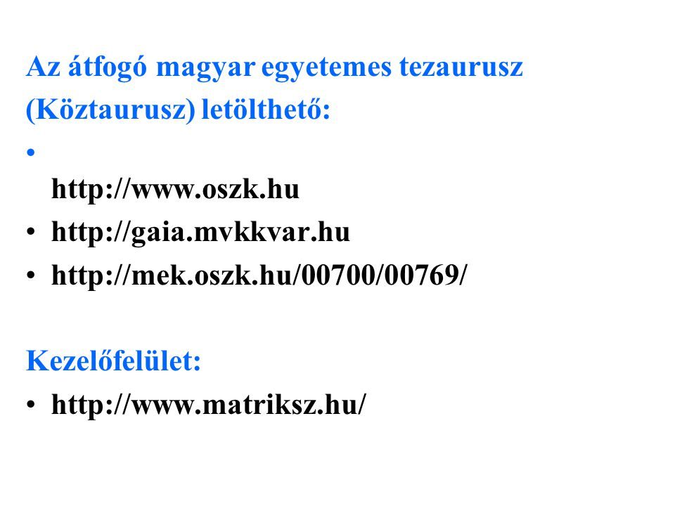 Az átfogó magyar egyetemes tezaurusz