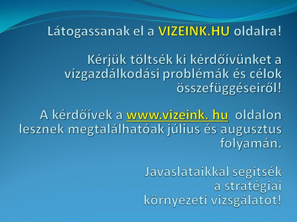 Látogassanak el a VIZEINK.HU oldalra!