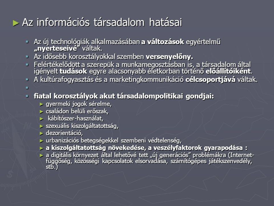 Az információs társadalom hatásai