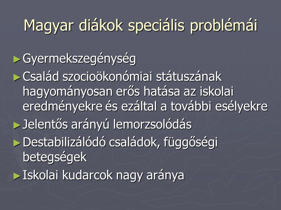 Magyar diákok speciális problémái