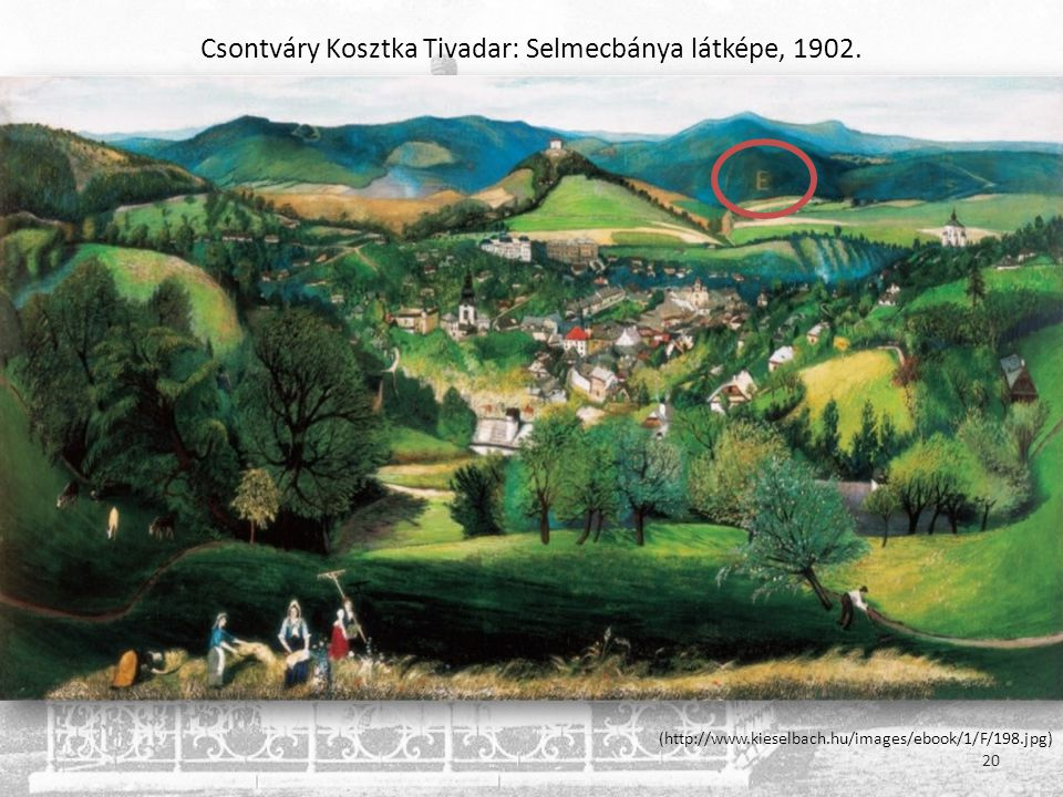 Csontváry Kosztka Tivadar: Selmecbánya látképe, 1902.
