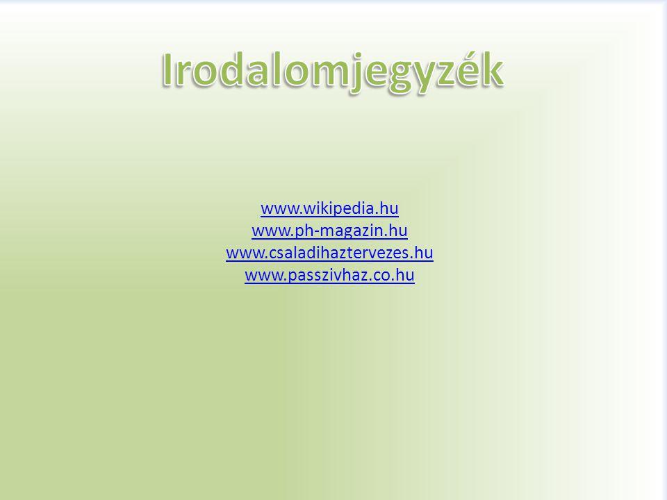 Irodalomjegyzék www.wikipedia.hu www.ph-magazin.hu