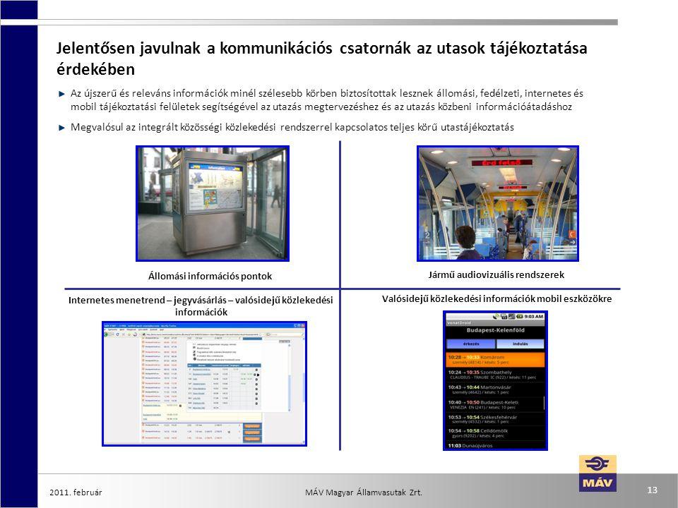 Jelentősen javulnak a kommunikációs csatornák az utasok tájékoztatása érdekében