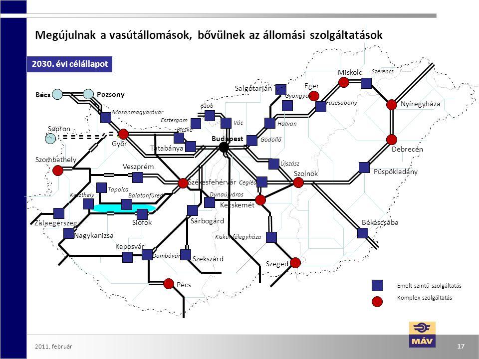 Megújulnak a vasútállomások, bővülnek az állomási szolgáltatások