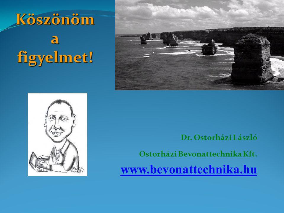 Köszönöm a figyelmet! www.bevonattechnika.hu Dr. Ostorházi László