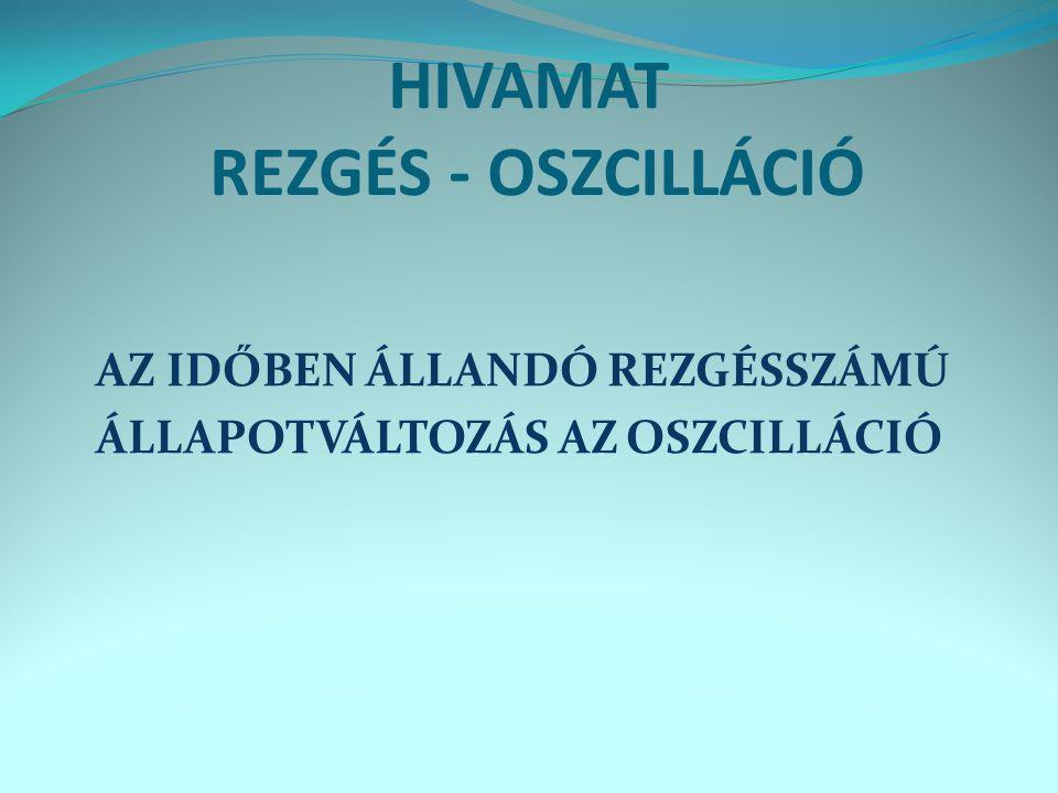 HIVAMAT REZGÉS - OSZCILLÁCIÓ