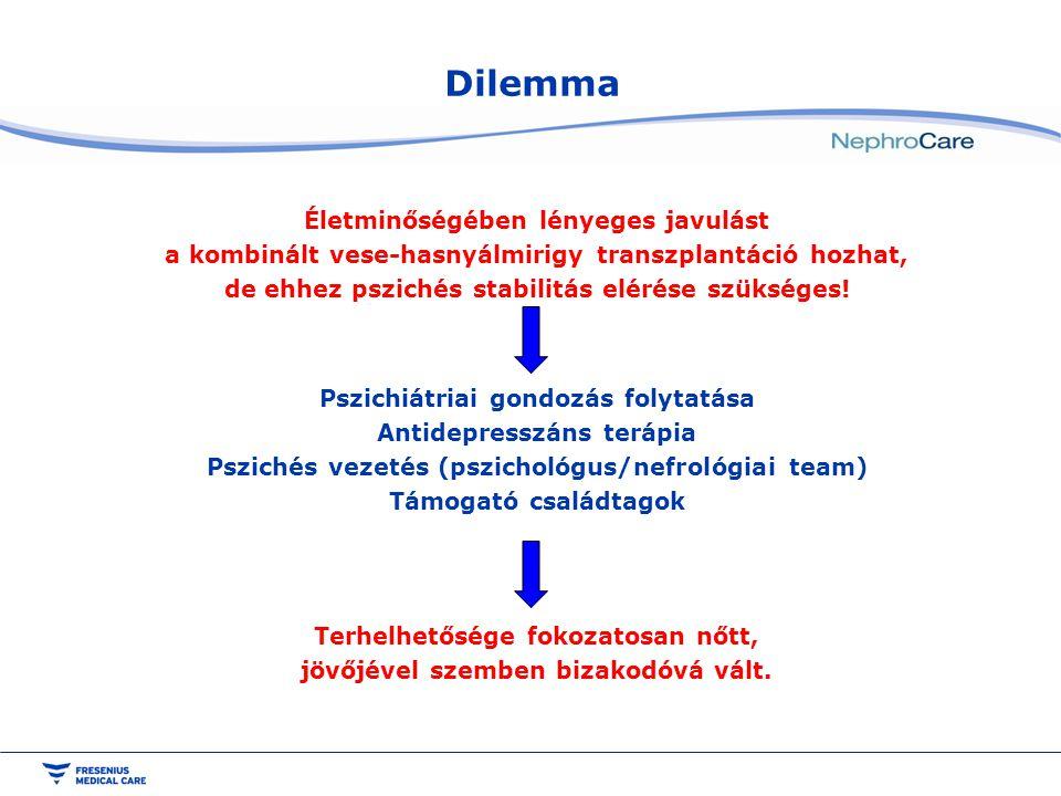 Dilemma Életminőségében lényeges javulást