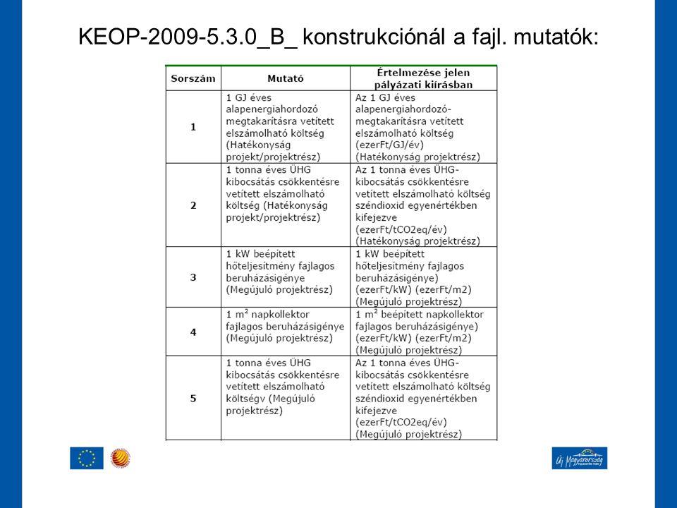 KEOP-2009-5.3.0_B_ konstrukciónál a fajl. mutatók: