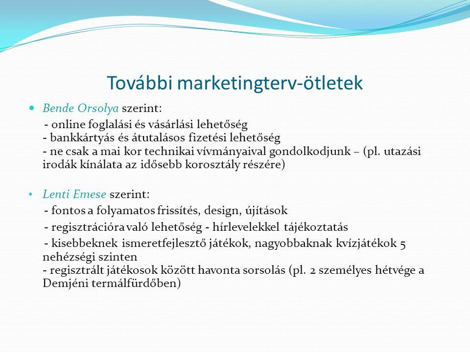 További marketingterv-ötletek
