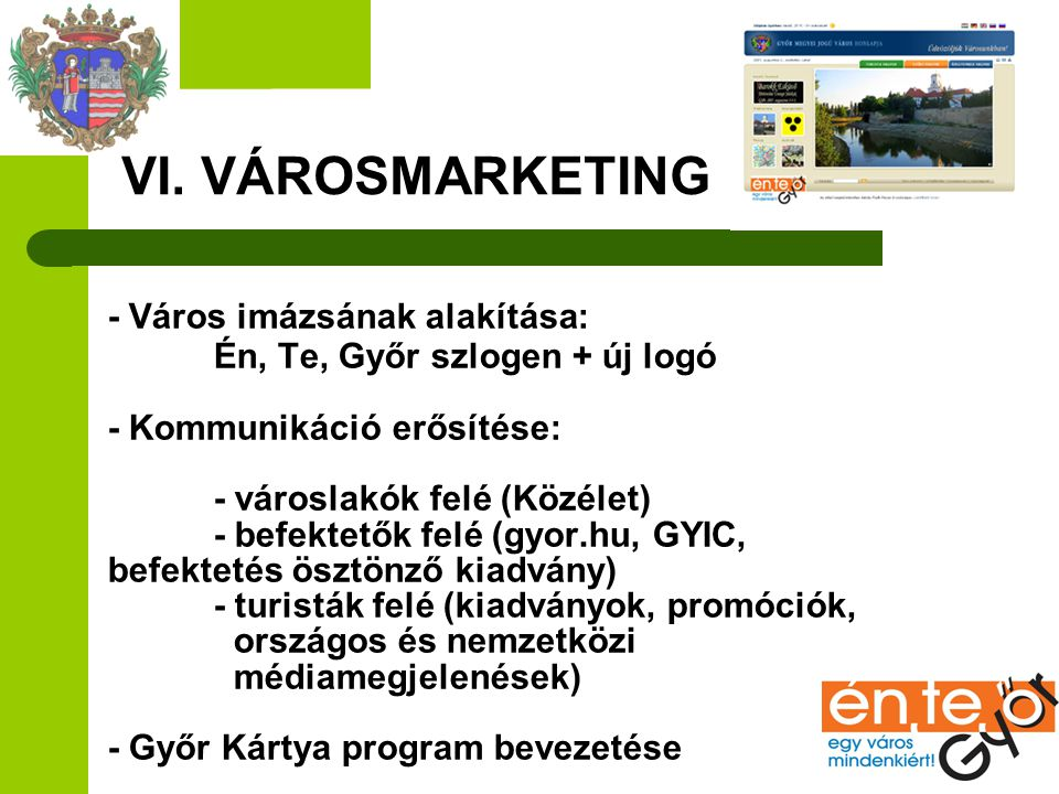 VI. VÁROSMARKETING
