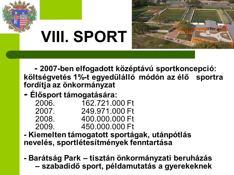 VIII. SPORT